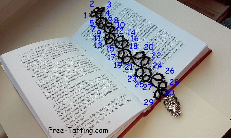 tatting bookmark pattern