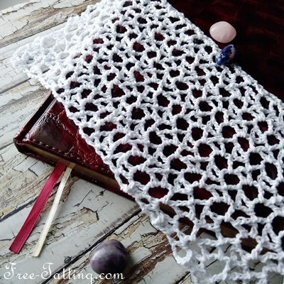 Crocheted webe pattern