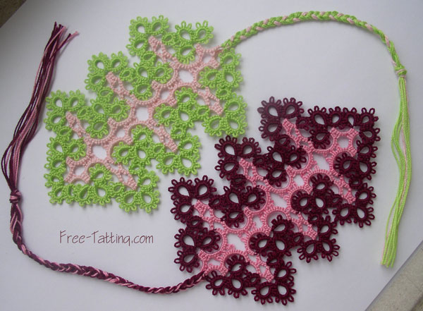 tatting bookmarks pattern