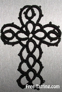 tatted cross free pattern