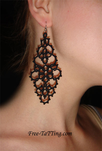 tatting earring pattern