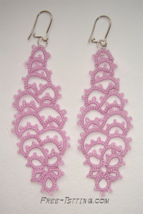 tatted earrings pattern free