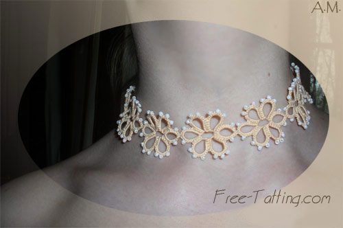 tatted necklace pattern