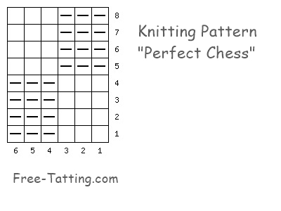 Two-sided knitting pattern diagram