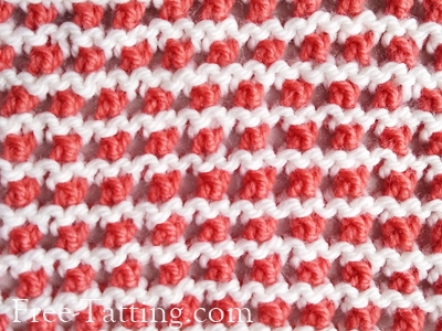 two colors knitting pattern