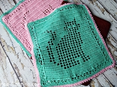 square crochet doily cat