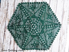 Hexagon Crochet doily
